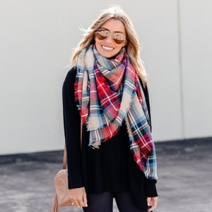 Accessories - Tartan Plaid Blanket Scarf Wrap Shawl